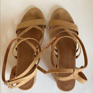 Madden Girl Tan Strappy Sandals